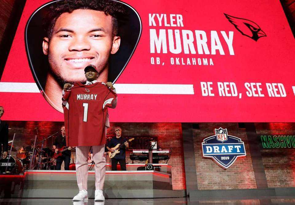 Oklahoma quarterback Kyler Murray shows off his new