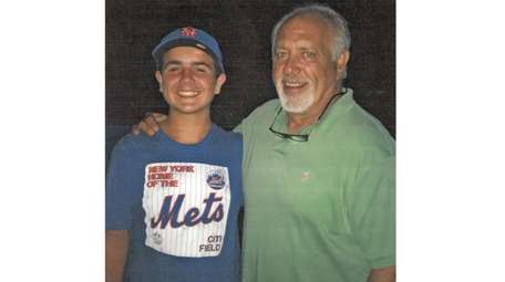 Kidsday reporter Brady Lessing and Wally Backman, Long