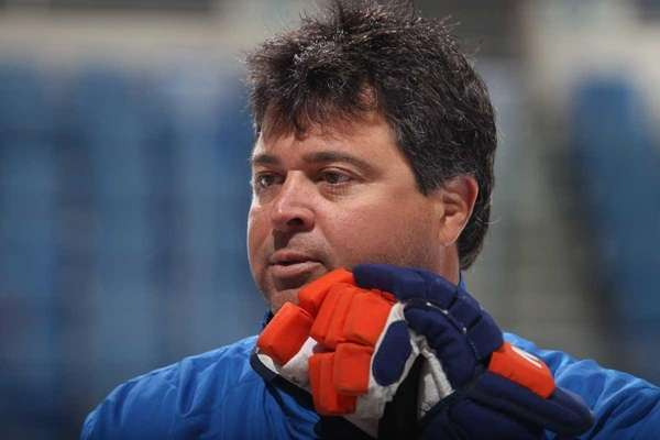 Head coach Jack Capuano keeps an eye on