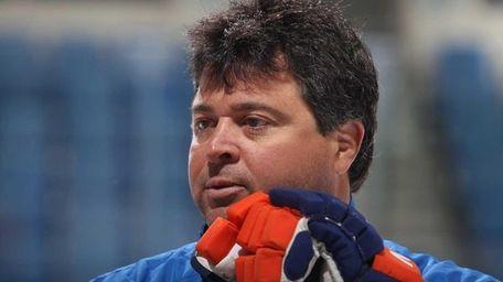 Head coach Jack Capuano keeps an eye on