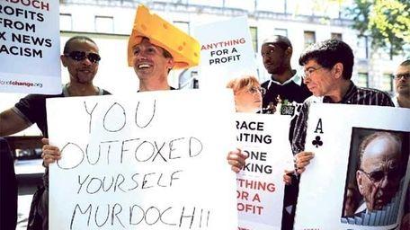 Rupert Murdoch protest