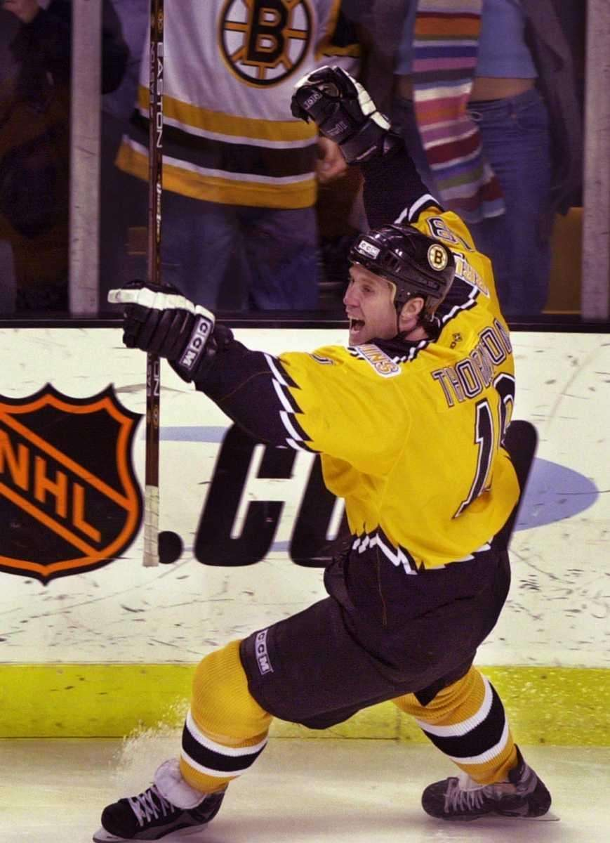 1997: JOE THORNTON Boston Bruins Center Career stats: