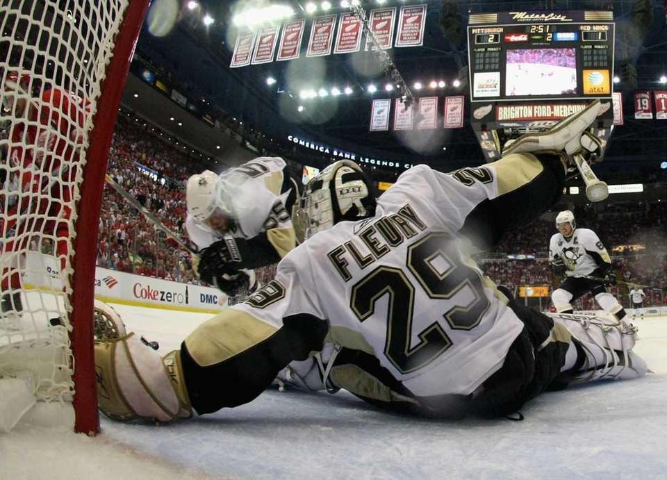 2003: MARC-ANDRE FLEURY, Pittsburgh Penguins Goalie Career stats: