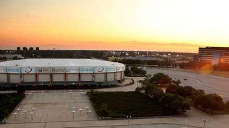 A view of the Nassau Coliseum from the