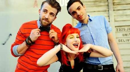 Paramore, from left to right: Jeremy Davis, Haley