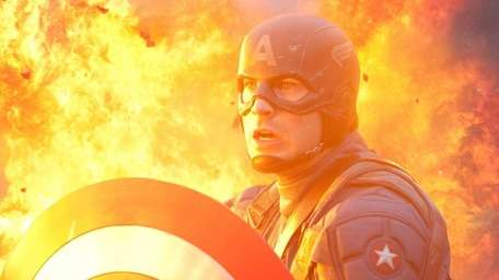Chris Evans plays the hero in