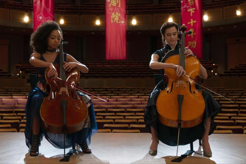 When troubled cello prodigy, right, (Allison Williams of