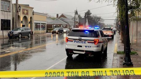 Police respond to the scene of a slashing