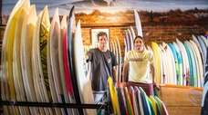 unsOund surf co-owners Mike Nelson (left) and Dave