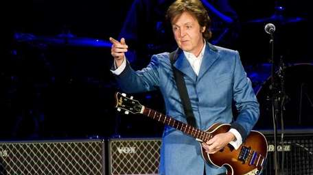 Paul McCartney performs in concert at Yankee Stadium