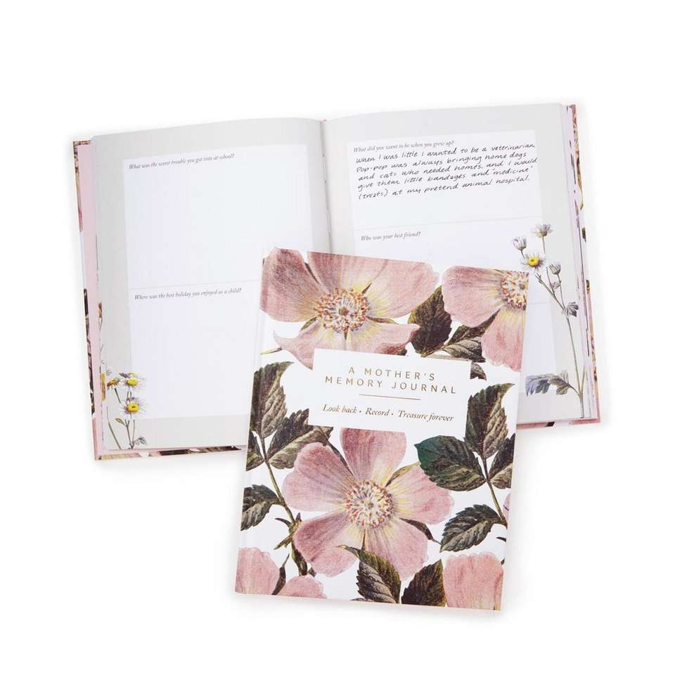 A guided journal that will take mom on