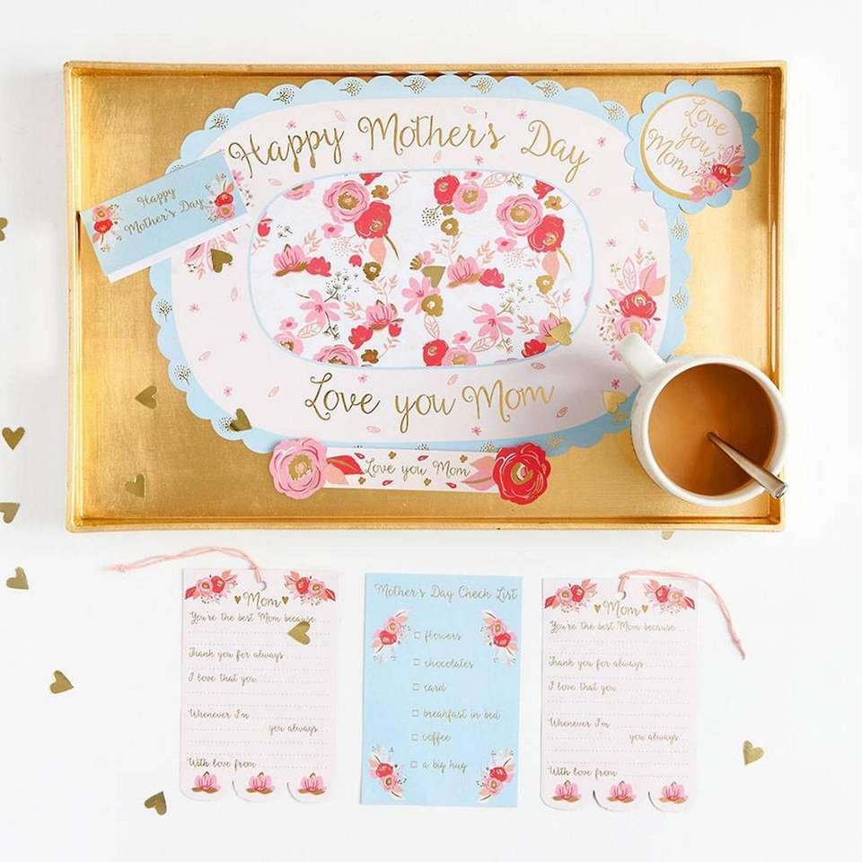 Surprise Mom with this tray set that comes