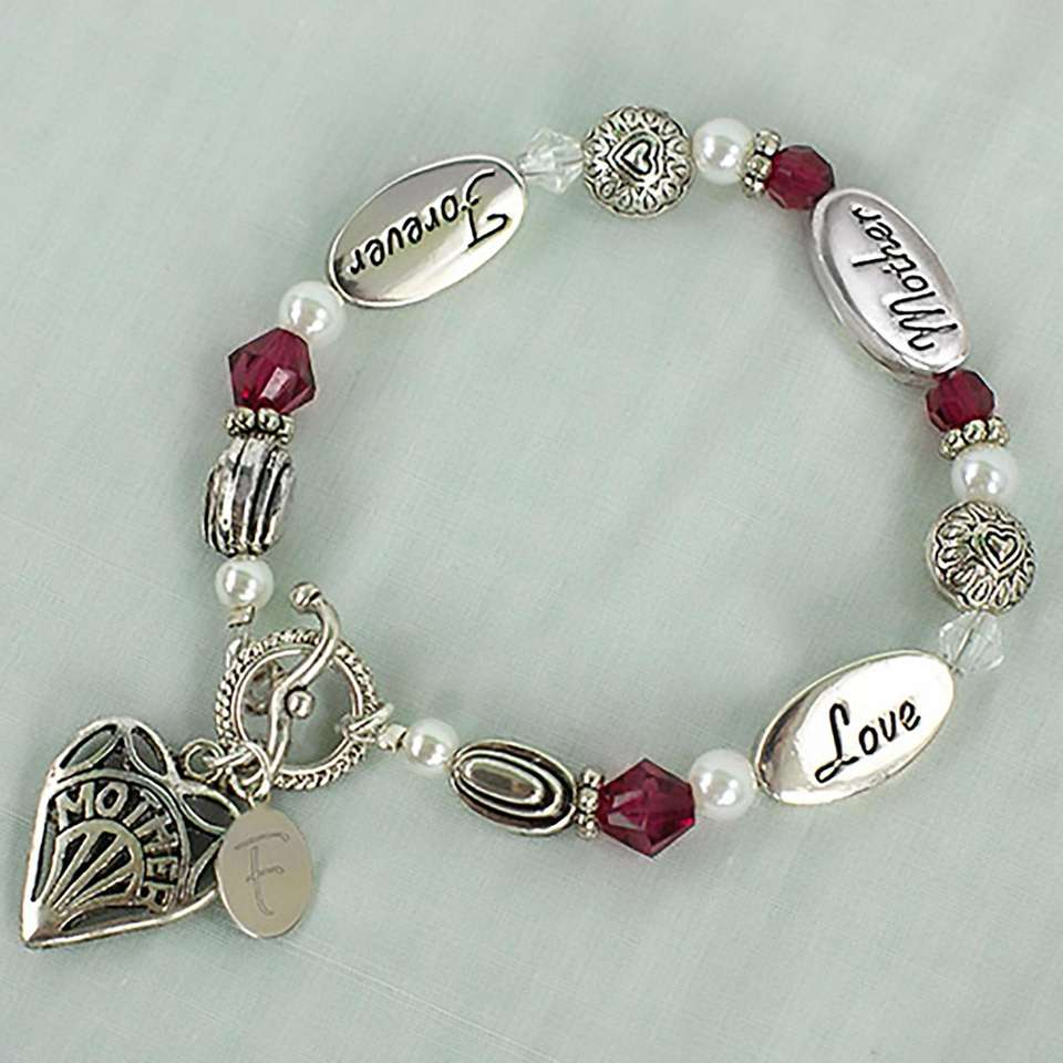 This charm bracelet can be personalized by adding