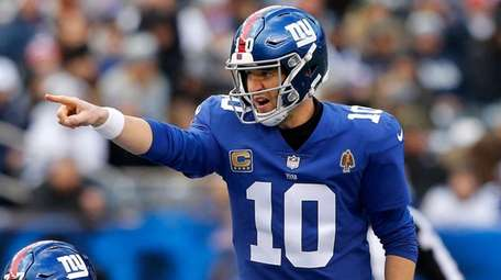 Eli Manning, shown here against Dallas on Dec.