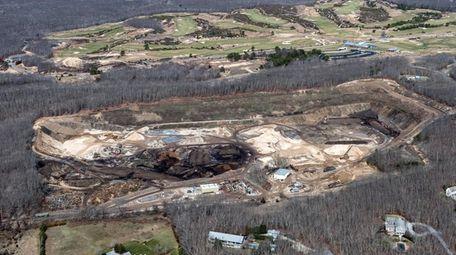 The Noyack sand mine, known as Sand Land,