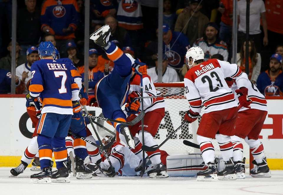 Anders Lee #27 of the New York Islanders