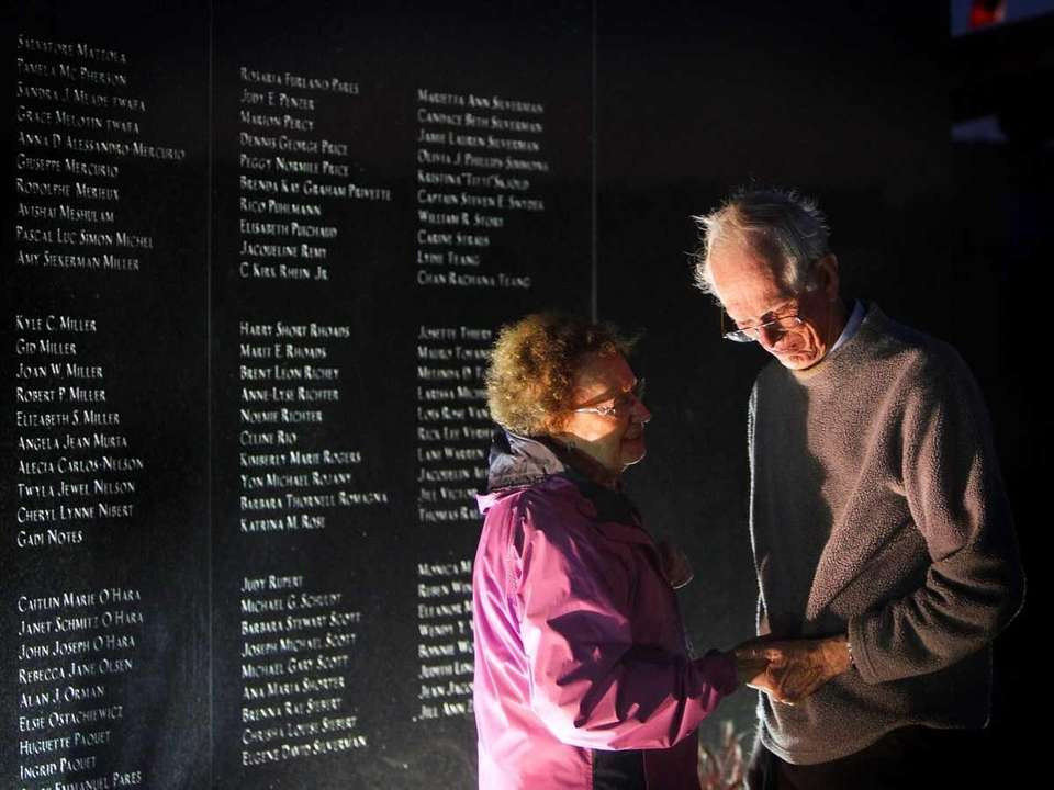 Family members of TWA Flight 880 crash victims