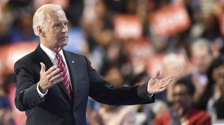 Vice President Joe Biden speaks at the Democratic