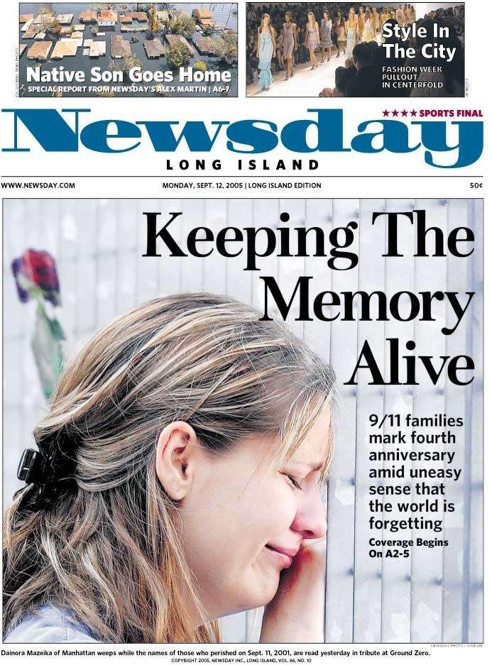 Monday, Sept. 12, 2005. Read the story
