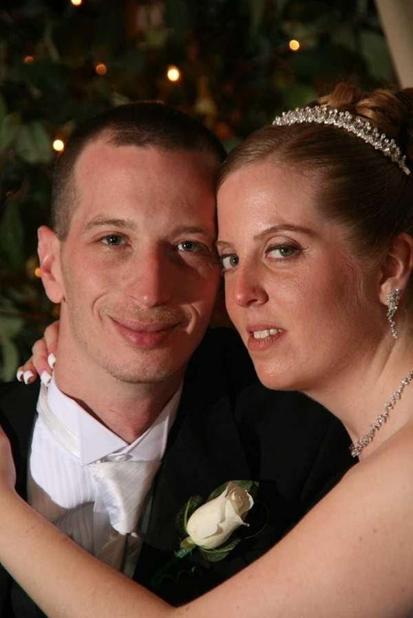 Wedding photo of David Laffer and Melinda Brady.