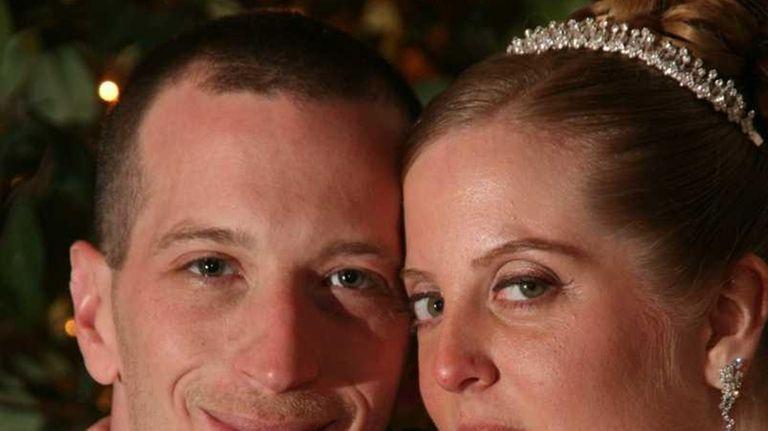 Wedding photo of David Laffer and Melinda Brady.