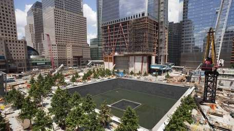 Work continues on the National September 11 Memorial