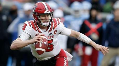 North Carolina State quarterback Ryan Finley will be