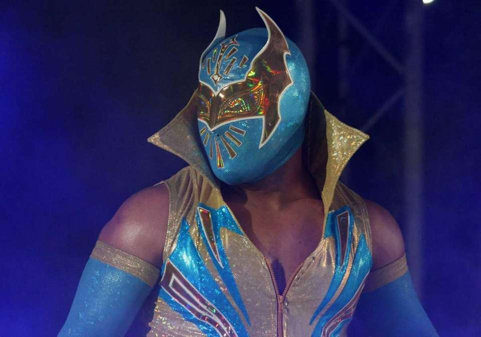 WWE Superstar Sin Cara is introduced during the