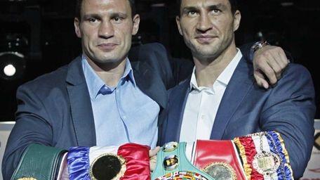 Ukrainian brothers and heavyweight world boxing champions Wladimir