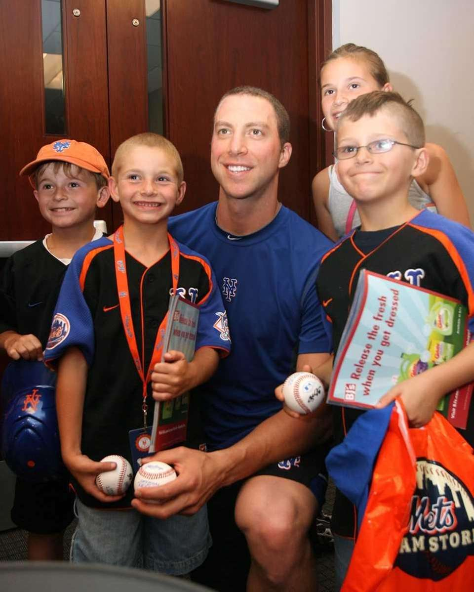 Mets pitcher Chris Capuano at Citi Field with