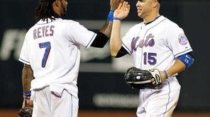 New York Mets' Jose Reyes #7 high fives