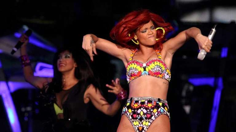Rihanna performed at the Nassau Coliseum. (July 19,
