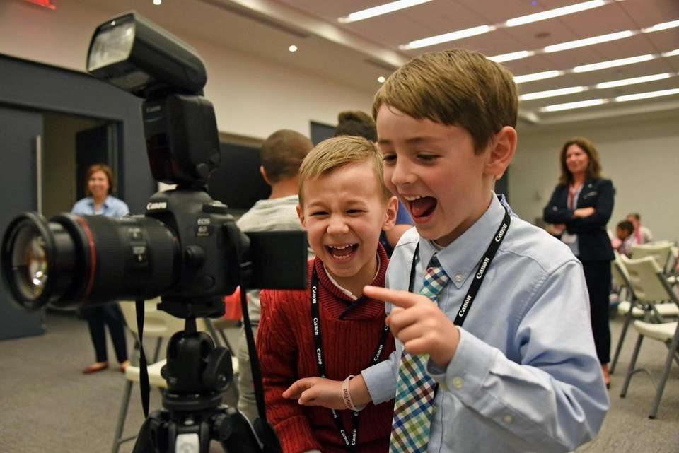 Devin Guler, 7, left, and Michael Trimarco, 7,