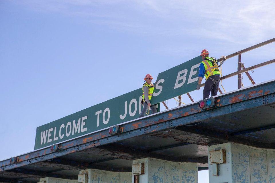 Crews begin demolition of the Jones Beach toll