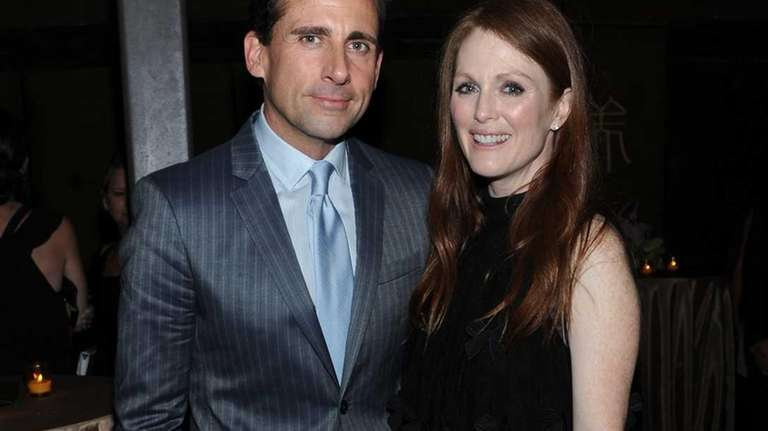 Steve Carell and Julianne Moore attend the world