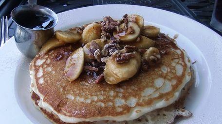 Banana pecan pancakes at Grand Lux Cafe