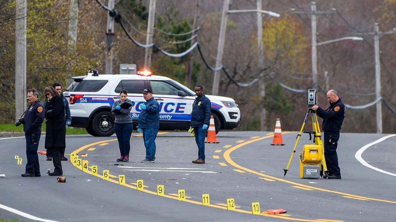 Suffolk County police are investigating a hit-and-run crash