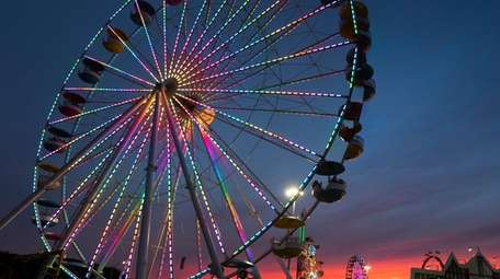 The Empire State Fair features a giant Ferris