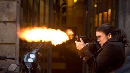 Gina Carano, a mixed martial artist, in a