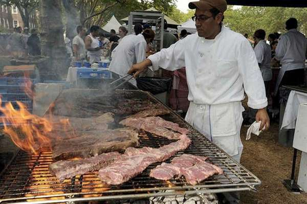 Cooks will serve up slabs of beef, pork,