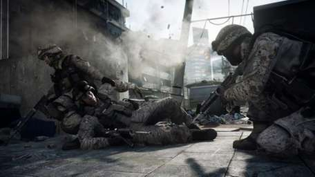 A screen from Battlefield 3, in stores October