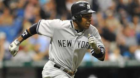 Outfielder Curtis Granderson homers in the first-inning against