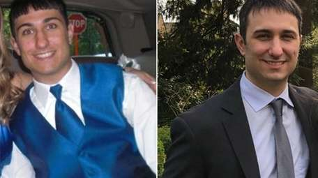 Thomas Galassi, left, in 2009, and right, in
