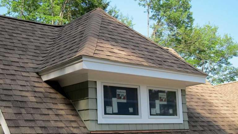 This roof dormer was built in a couple