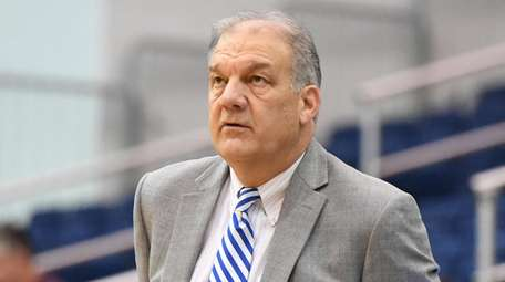 Hofstra head coach Joe Mihalich looks on during