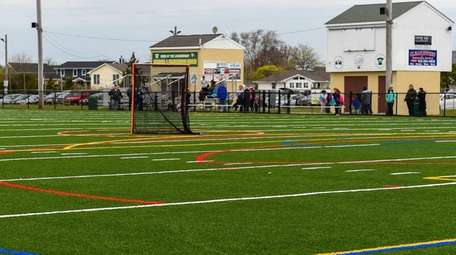New athletic artificial turf field at Venetian Shores