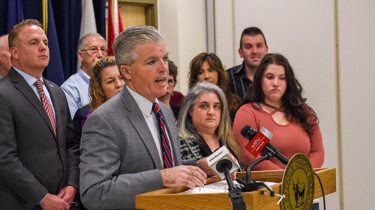 On Monday, Suffolk County Executive Steve Bellone announced