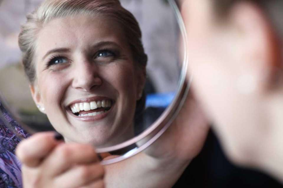 Kate Wrede likes what she sees during her