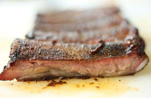 Barbecued ribs are a specialty at RUB BBQ
