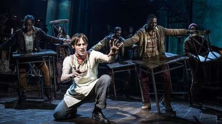"Reeve Carney stars in ""Hadestown,"" which is up"